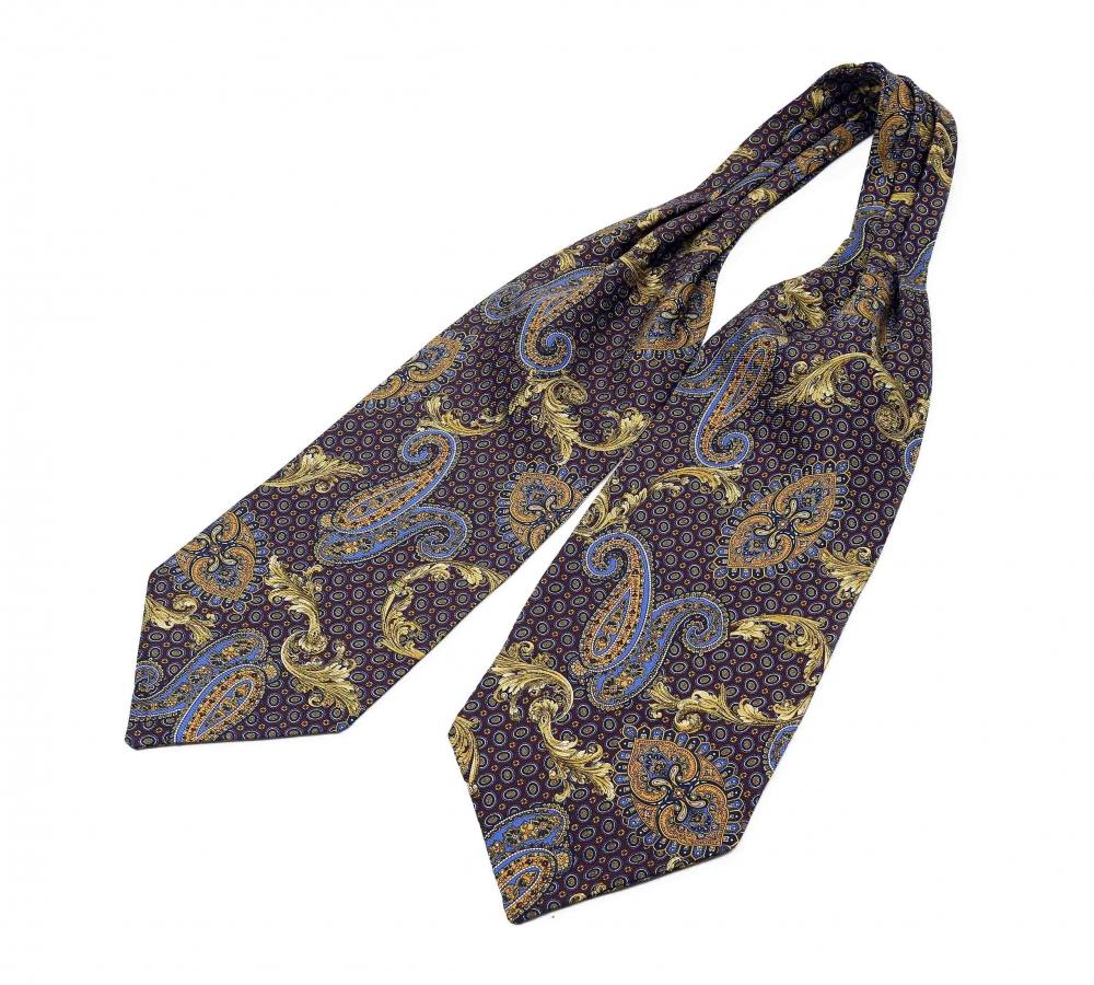 """Шейный мужской платок Аскот из натурального шелка с узором """"Султан"""""""