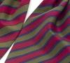 """Шейный мужской платок Аскот из натурального шелка с узором """"Фуксия на хаки"""""""