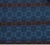 """Шейный мужской платок Аскот из натурального шелка с узором """"Сине-коричневая полоска"""""""