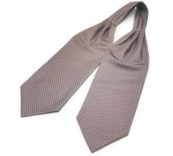 """Шейный мужской платок Аскот с узором """"Благородный Джо"""" из натурального шелка"""