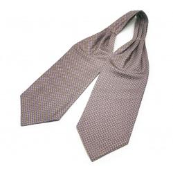 """Шейный мужской платок Аскот из натурального шелка с узором """"Благородный Джо"""""""