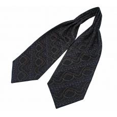 """Шейный мужской платок Аскот с узором """"Великолепный век"""" из натурального шелка"""