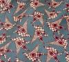 """Шейный мужской платок Аскот из натурального шелка с узором """"Утки-оригами"""""""