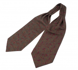 """Шейный мужской платок Аскот с узором """"Искусство в деталях"""" из натурального шелка"""