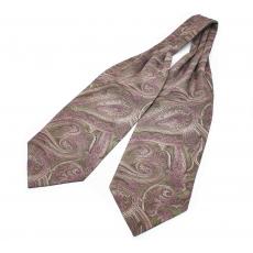 """Шейный мужской платок Аскот с узором """"Розовый пейсли"""" из натурального шелка"""